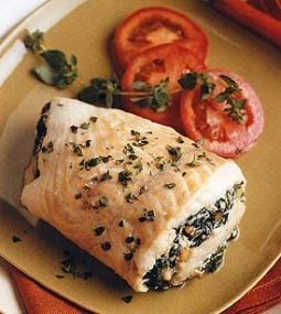 Fillets of Lemon Sole with Spinach and Ricotta Stuffing